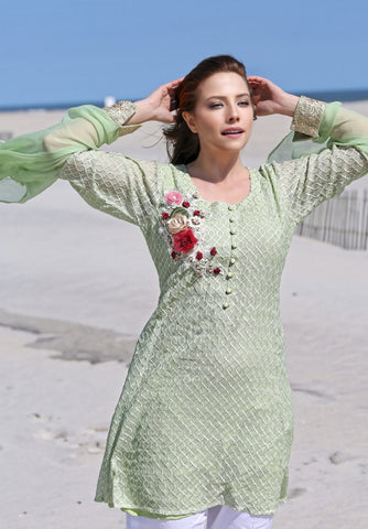 EMBROIDERED NET SHIRT SSK-159