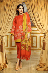 Al Karam Stitched Winter 3 Piece GFSU1907