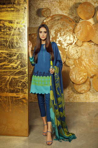 Al Karam Stitched Winter 3 Piece GFSU1908
