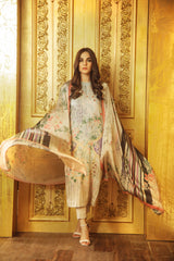 Al Karam Stitched Winter 3 Piece GFSU1918