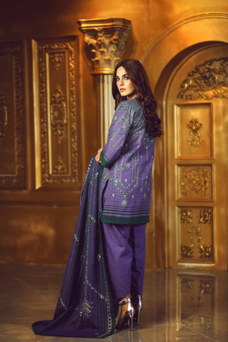 Al Karam Stitched Winter 3 Piece GFSU1920