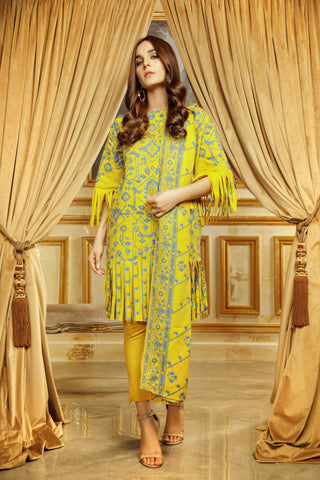 Al Karam Stitched Winter 3 Piece GFSU1922