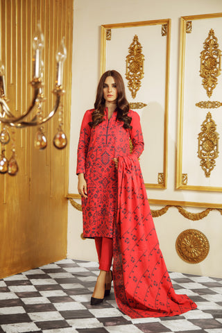 Al Karam Stitched Winter 3 Piece GFSU1923
