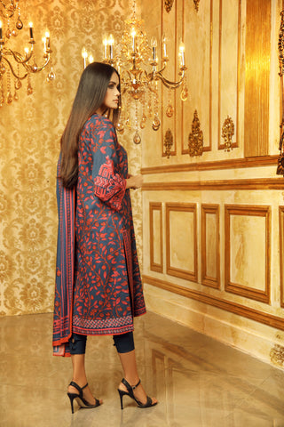 Al Karam Stitched Winter 3 Piece GFSU1927