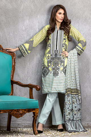 GUL AHMED LAWN STITCHED 3 PIECE 2019 CL#534B