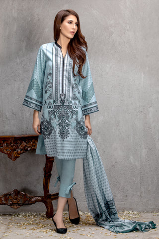GUL AHMED LAWN STITCHED 3 PIECE 2019 CL#534A