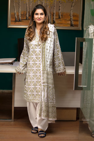 GUL AHMED LAWN STITCHED 3 PIECE 2019 CL#479B