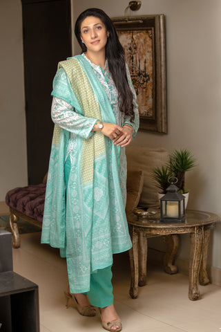 GUL AHMED LAWN STITCHED 3 PIECE 2019 CL#478B