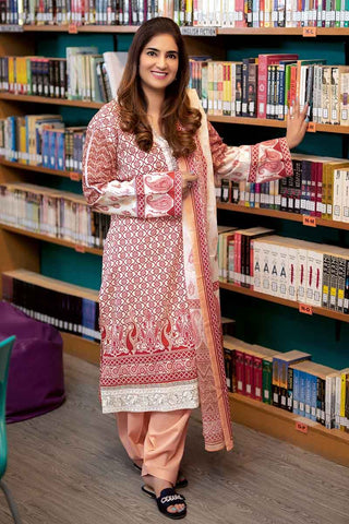 GUL AHMED LAWN STITCHED 3 PIECE 2019 CL#458B