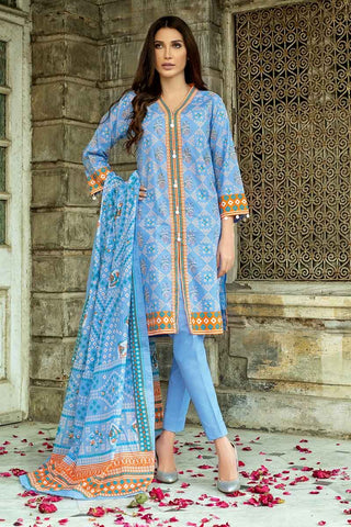 GUL AHMED LAWN STITCHED 3 PIECE 2019 CL#525B