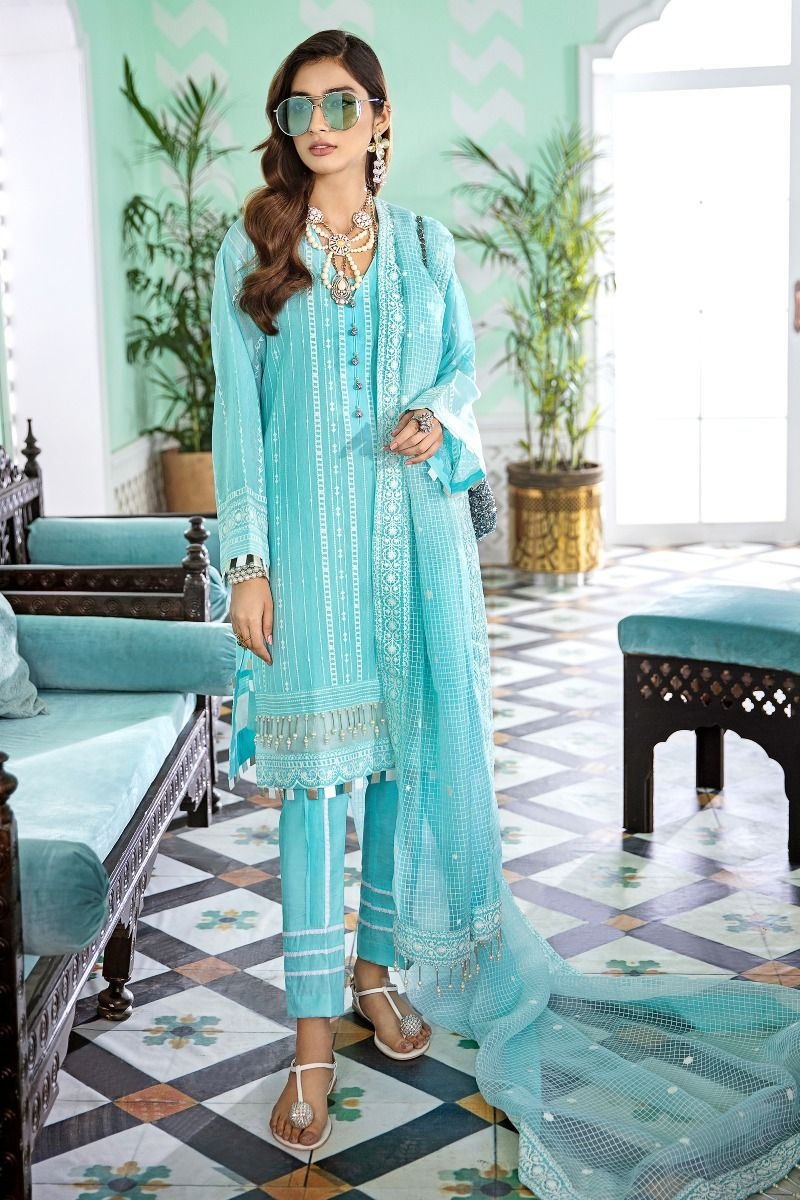 Gul Ahmed Stitched 3 Piece FE#340