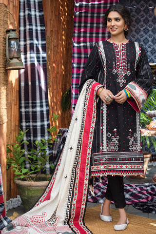 Stitched Khaddar 3 Piece Gul Ahmed K#102