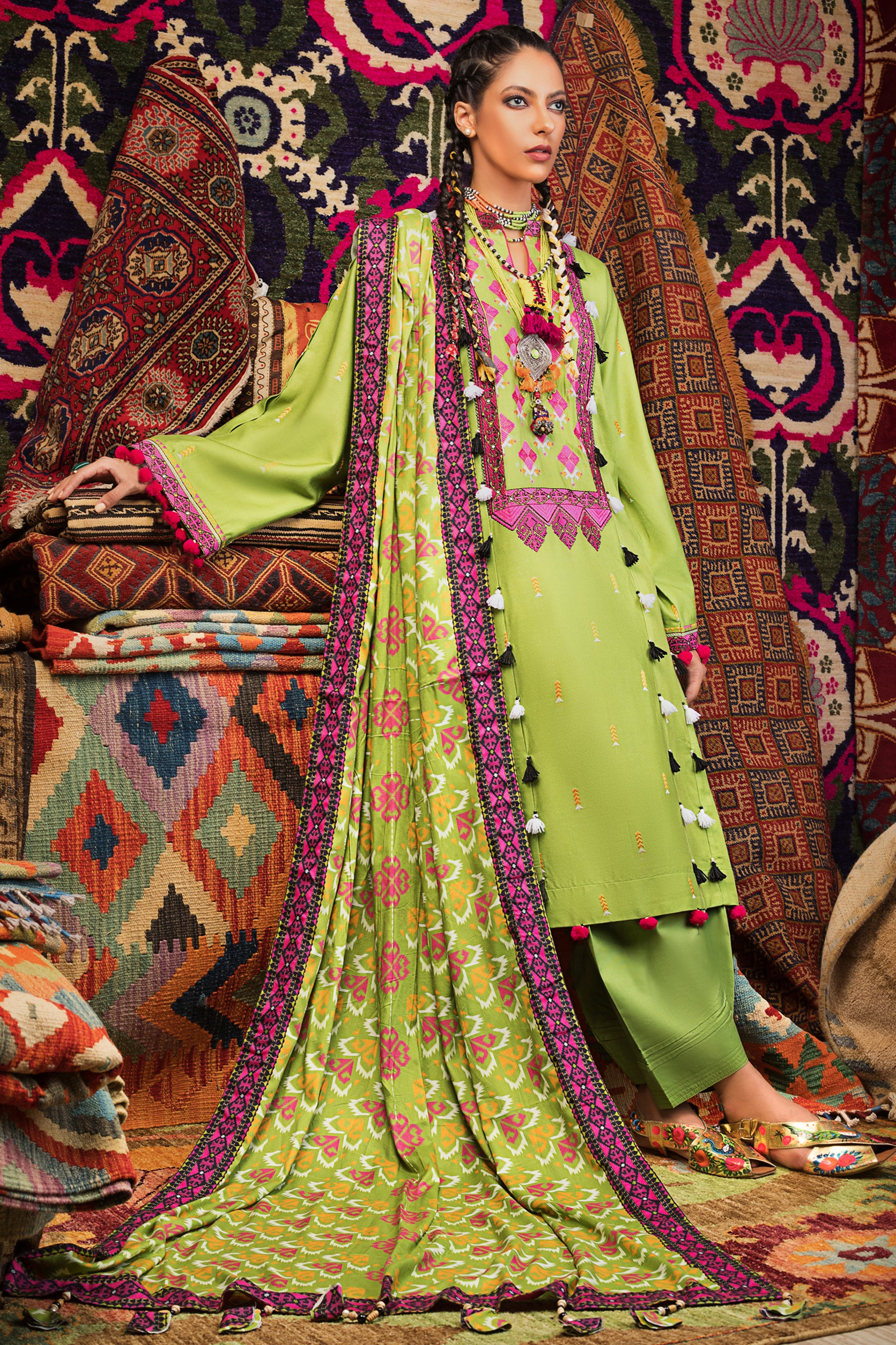 Stitched Linen 3 Piece Gul Ahmed V#15