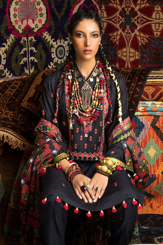 Stitched Linen 3 Piece Gul Ahmed V#14