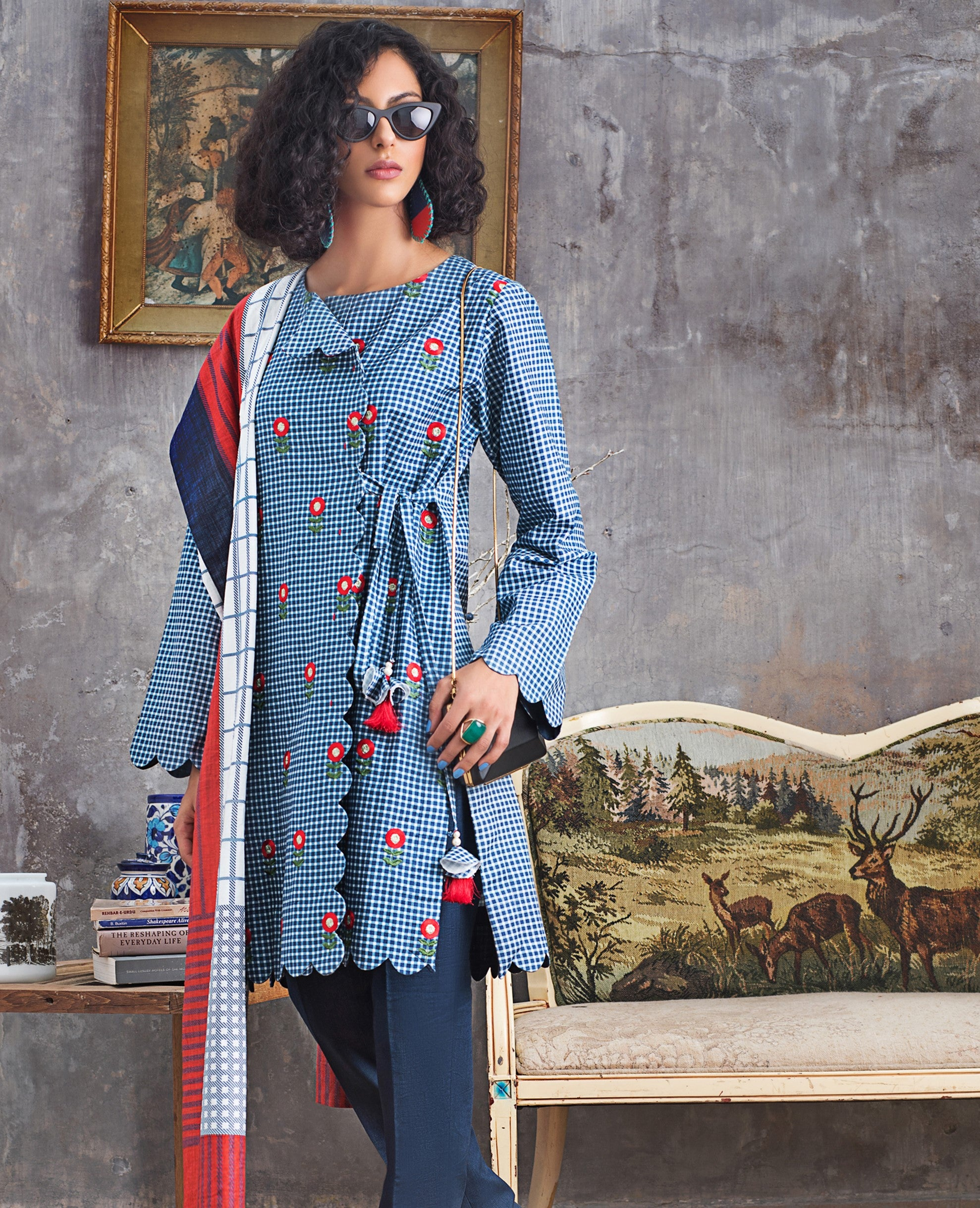 Stitched Khaddar 3 Piece Gul Ahmed K#90