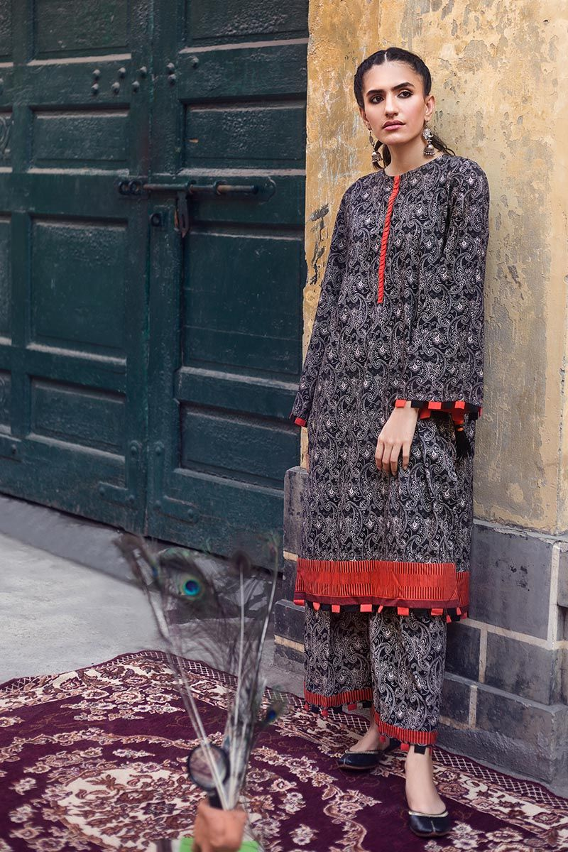 Gul Ahmed Winter Stitched 1pc SK#90