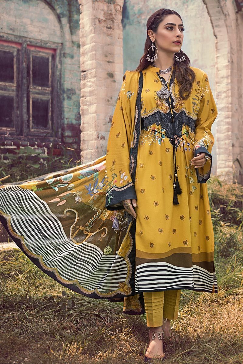 Gul Ahmed Winter Stitched 3pc CD#50