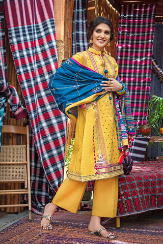 Stitched Khaddar 3 Piece Gul Ahmed K#103