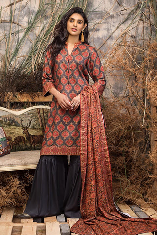 Gul Ahmed Winter Stitched 3pc LT#20