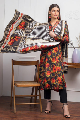 Gul Ahmed Winter Stitched 3pc LT#16
