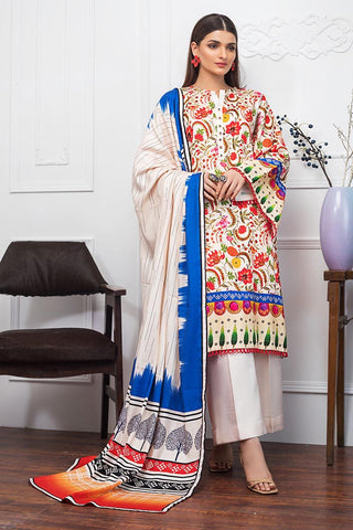 Gul Ahmed Winter Stitched 3pc LT#12