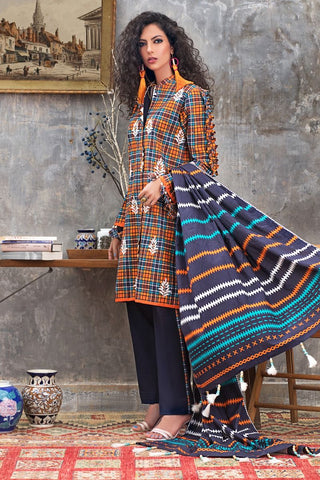 Stitched Khaddar 3 Piece Gul Ahmed K#94