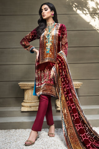 Gul Ahmed Stitched Velvet 2020 BVL#25