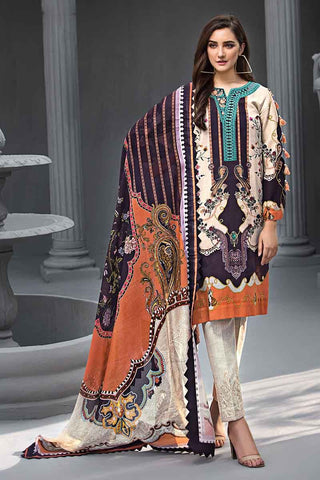 Gul Ahmed Stitched Winter 3 Piece  KCN#04