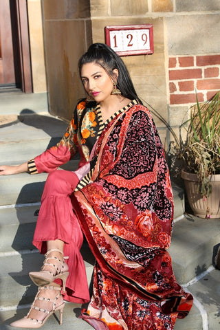 GUL AHMED WINTER VL-81 Printed Velvet