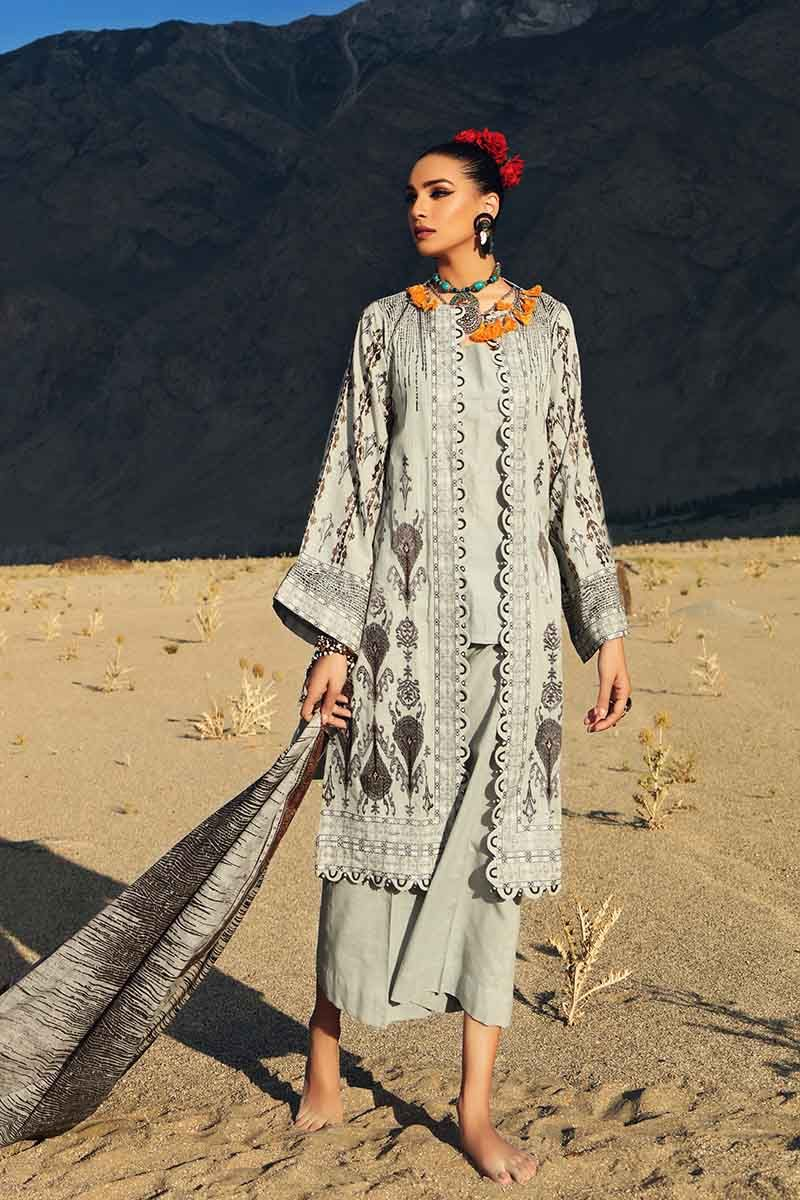 Gul Ahmed Stitched Winter 3 Piece  K#74