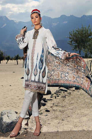 Gul Ahmed Stitched Winter 3 Piece  K#75