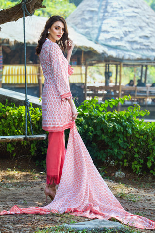 GUL AHMED LAWN STITCHED 3 PIECE 2019 CL#483B