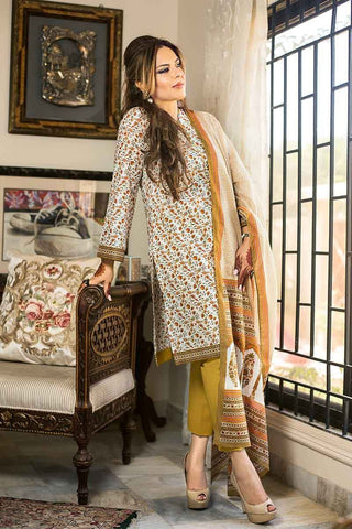 GUL AHMED LAWN STITCHED 3 PIECE 2019 CL#580B