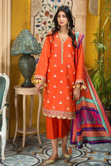 Gul Ahmed Stitched 3 Piece FE#357