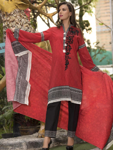 STITCHED EMB. LAWN 3 PC KL-4058