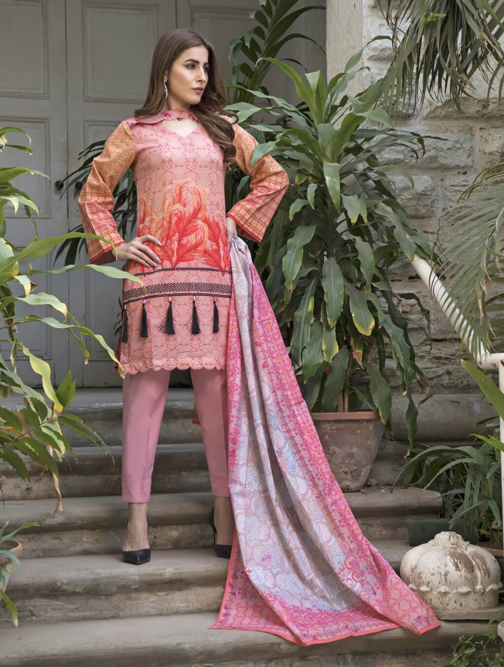 STITCHED PRNT. LAWN 3 PC KLA-9035