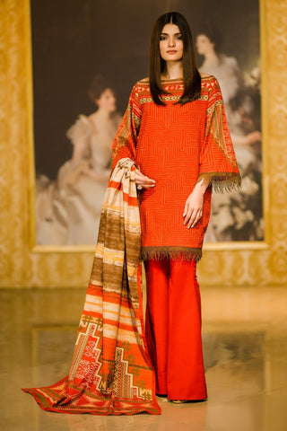 Al Karam Stitched Winter 3 Piece GFSU1911