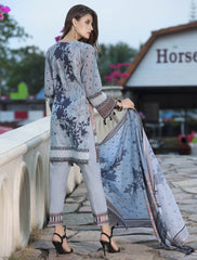 STITCHED EMB. LAWN 3 PC KL-4046