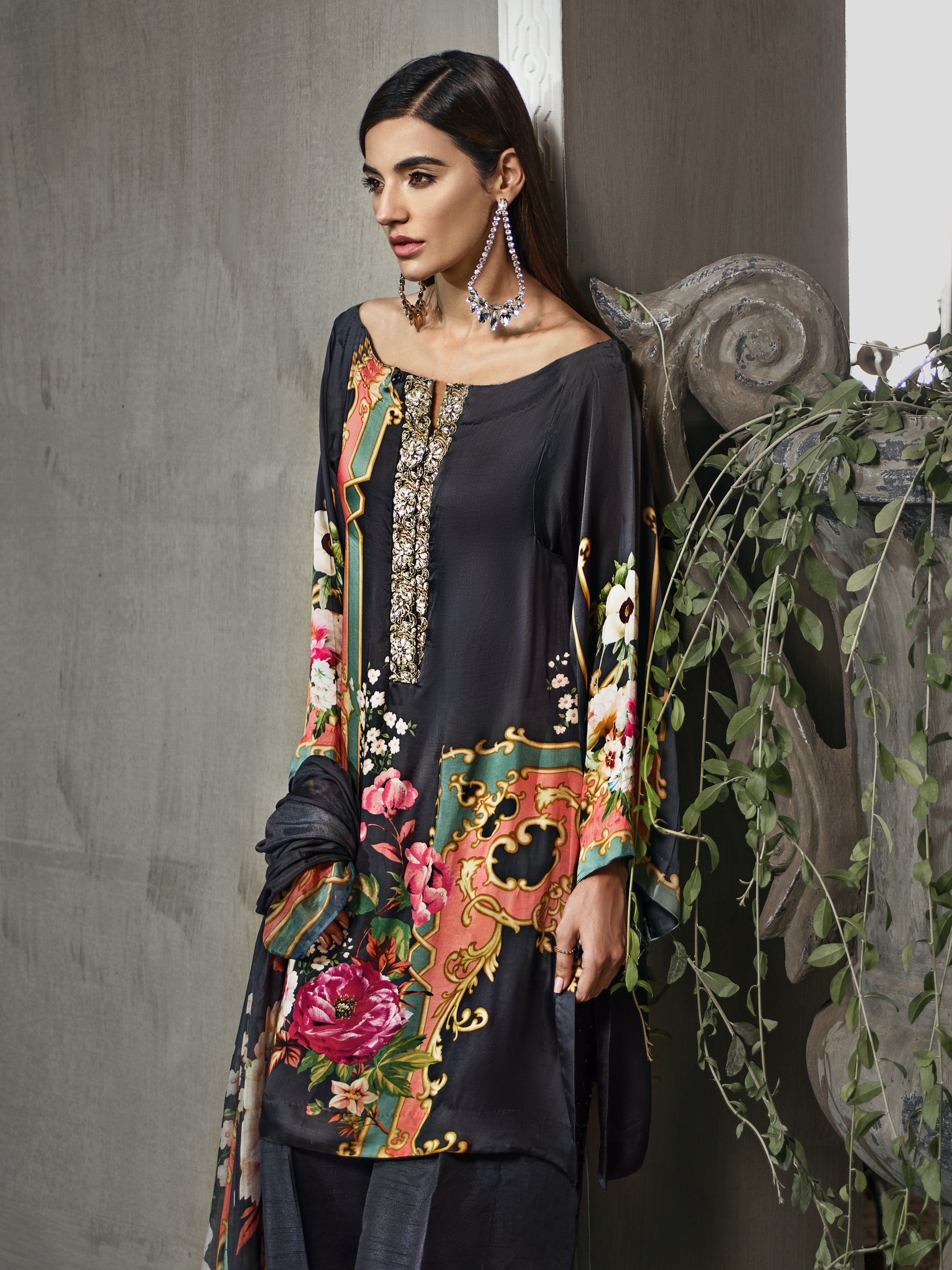 GUL AHMED DIGITAL SILK 3 Pcs Digital Silk DGS#63