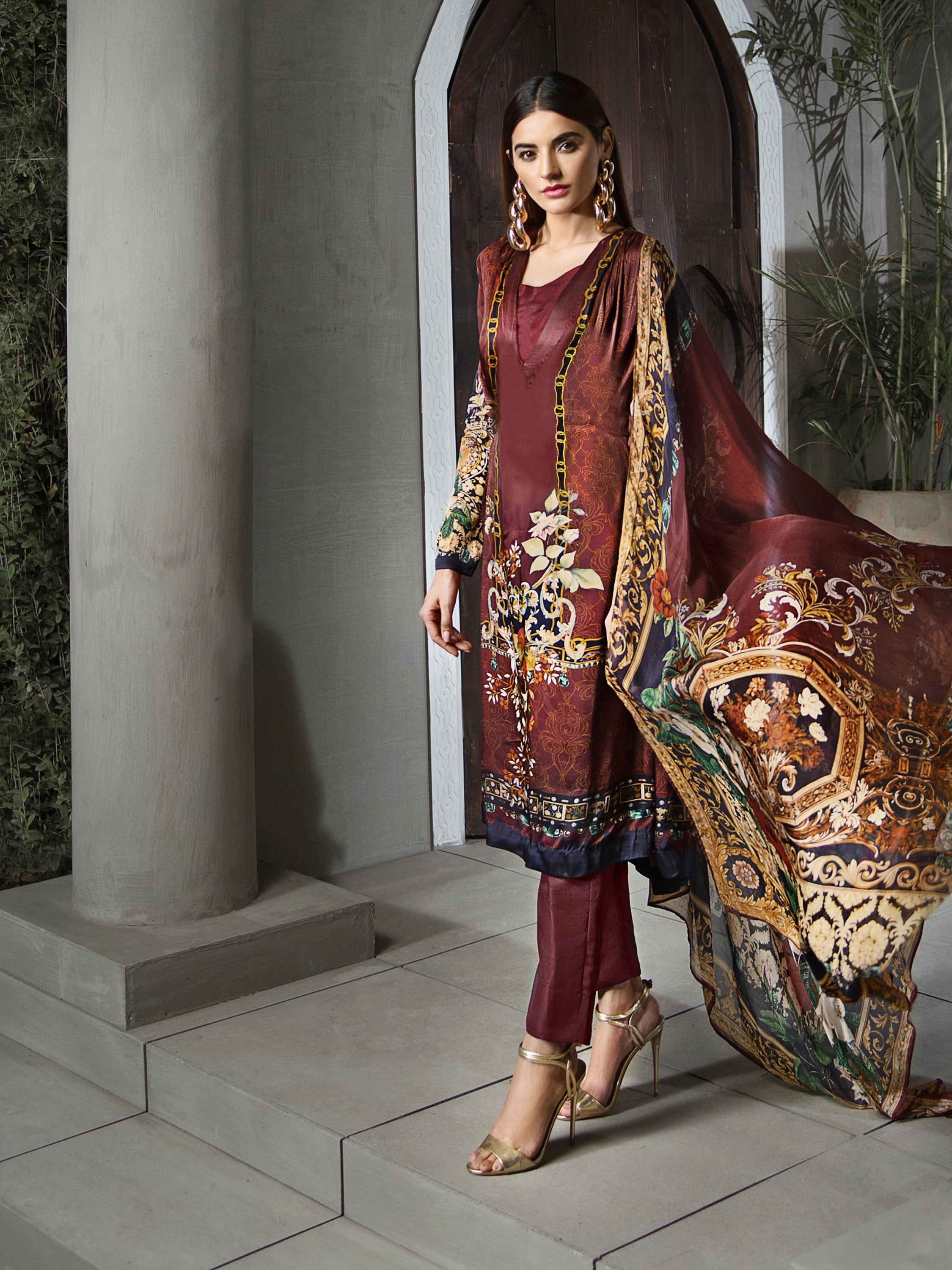 GUL AHMED DIGITAL SILK 2 Pcs Digital Silk DGT#79