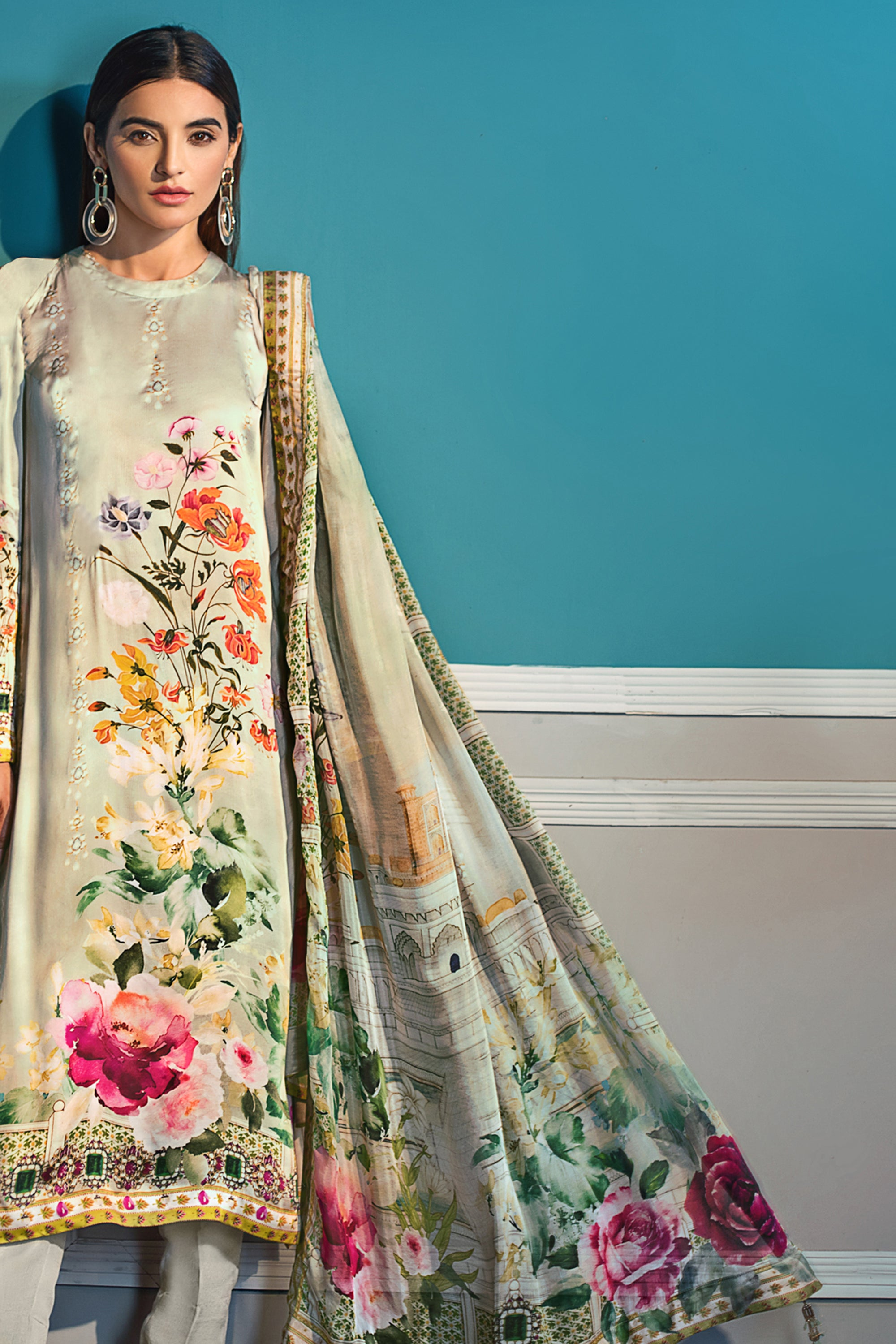 GUL AHMED DIGITAL SILK 3 Pcs Digital Silk DGS#71