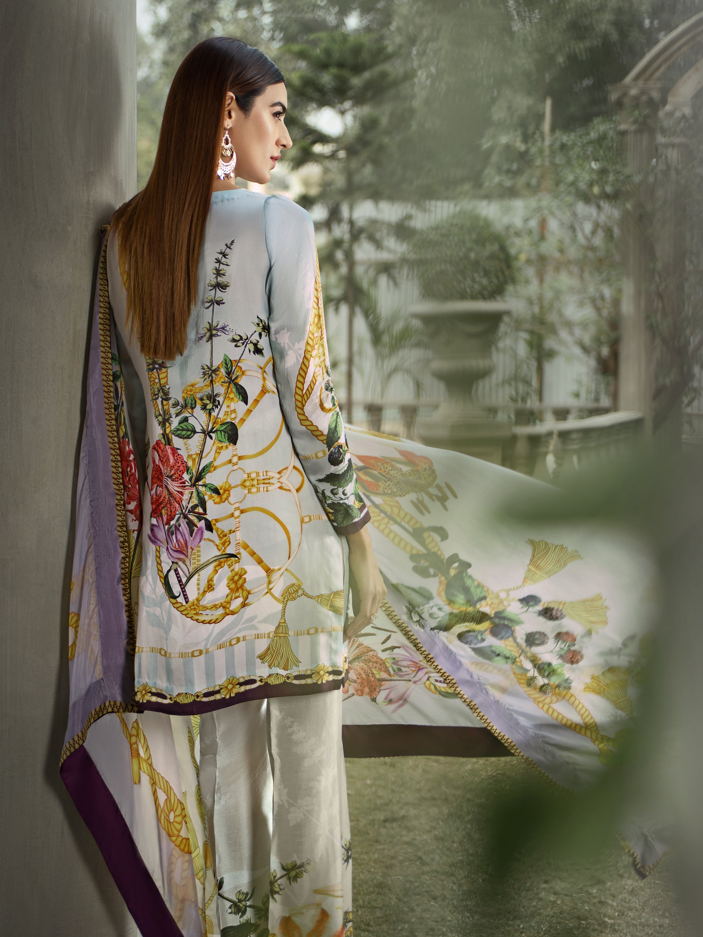 GUL AHMED DIGITAL SILK 3 Pcs Digital Silk DGS#64