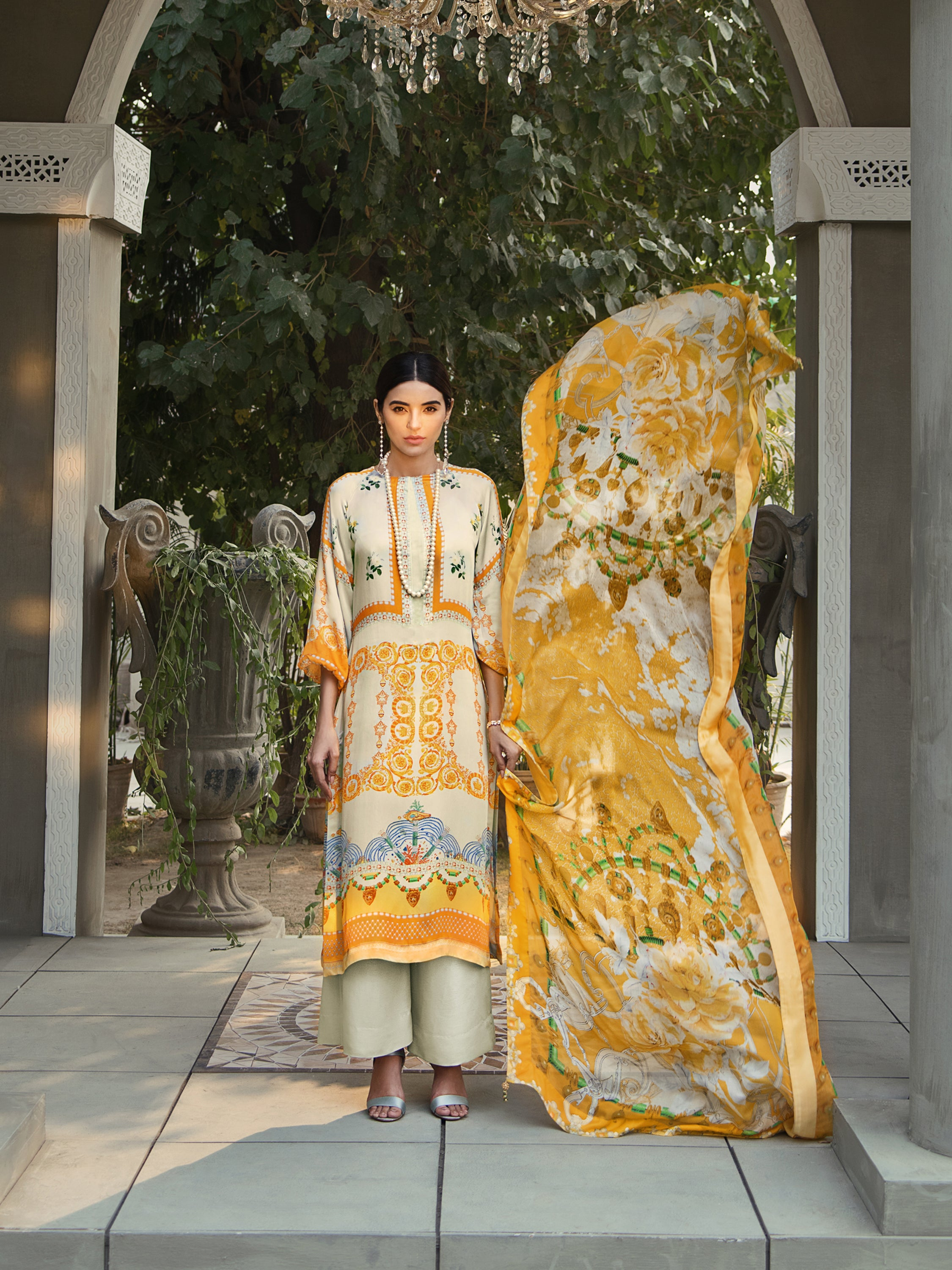 GUL AHMED DIGITAL SILK 3 Pcs Digital Silk DGS#72