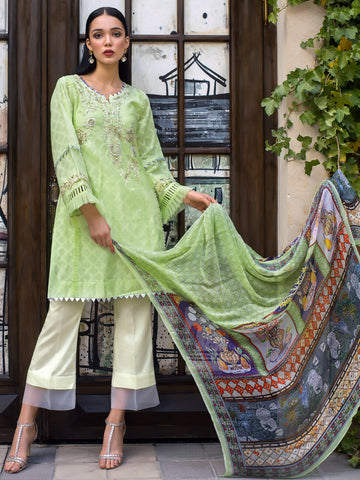 GUL AHMED FORMAL 2019 STITCHED 3 PIECE + INNER PS#05