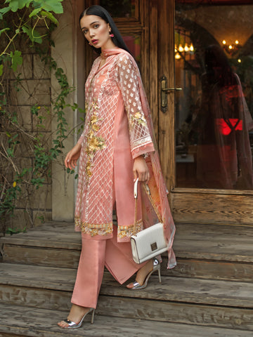 GUL AHMED FORMAL 2019 STITCHED 3 PIECE + INNER PS#04