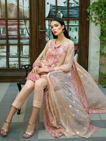 GUL AHMED FORMAL 2019 STITCHED 3 PIECE + INNER PS#09