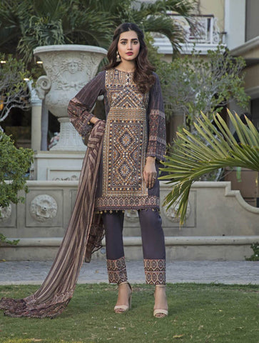 STITCHED CHIF. DUPATTA LAWN 3 PC KC-5032