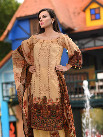 STITCHED CHIF. DUPATTA LAWN 3 PC KC-5034