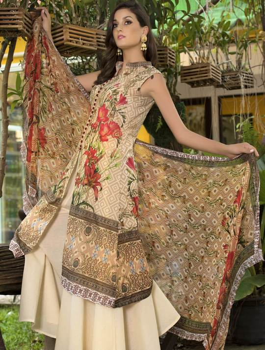 STITCHED CHIF. DUPATTA LAWN 3 PC KC-5035
