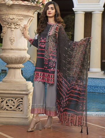 STITCHED CHIF. DUPATTA LAWN 3 PC KC-5036